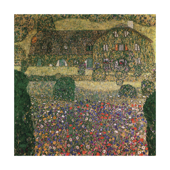 Country House By The Attersee Fine Art Print by Gustav Klimt