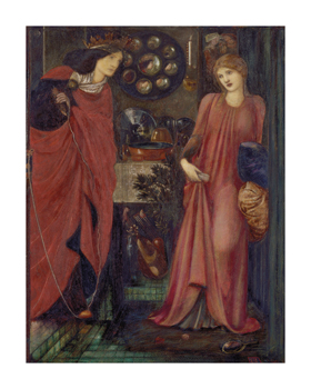 Fair Rosamund and Queen Eleanor Fine Art Print by Sir Edward Burne-Jones