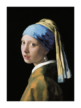 A Girl with a Pearl Earring Fine Art Print by Jan Vermeer
