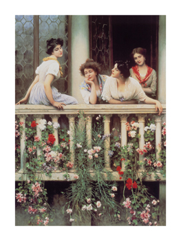 The Balcony I Fine Art Print by Eugene de Blaas