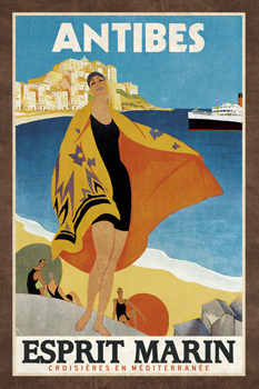 Cruise Antibes Print by Collection Caprice
