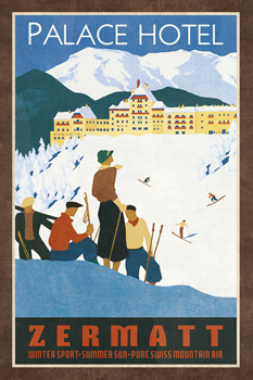 Grand Hotel Zermatt Print by Collection Caprice