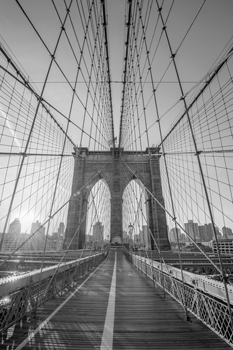 Brooklyn Wires Print by Alan Copson