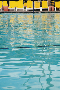 Poolside Dive Print by Irene Suchocki