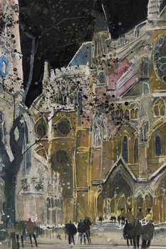 A Study of Westminster Abbey, London Canvas Print by Susan Brown