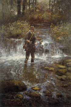 That Elusive Trout Canvas Print by Clive Madgwick