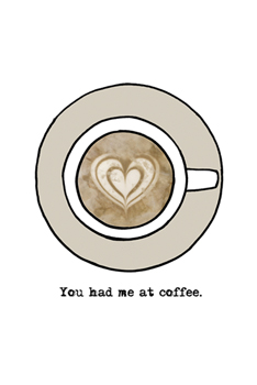 You Had Me At Coffee Canvas Print by Lottie Fontaine
