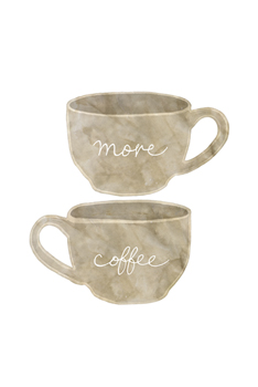 More Coffee Print by Lottie Fontaine