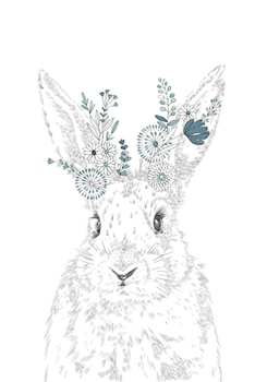 Woodland Wonders - Hare Canvas Print by Kristine Hegre