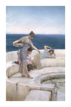 Silver Favourites Fine Art Print by Sir Lawrence Alma-Tadema