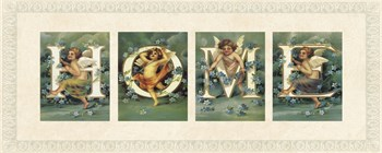 Cherub Typography II Print by The Vintage Collection