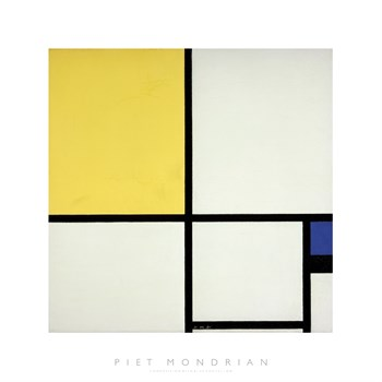 Composition with Blue and Yellow Print by Piet Mondrian