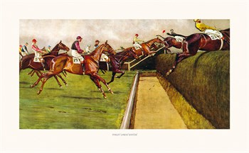 First Open Ditch Fine Art Print by Cecil Aldin