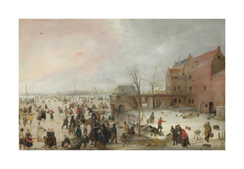 A Scene on the Ice near a Town, c.1615 Fine Art Print by Hendrick Van Avercamp