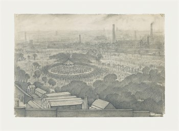 Bandstand, Peel Park , Salford, 1925 Fine Art Print by L.S. Lowry