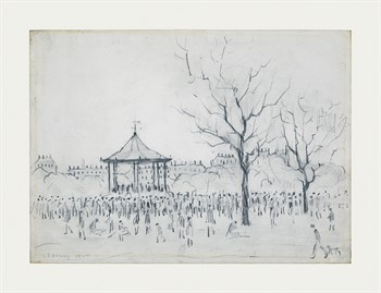 Bandstand, Peel Park, Salford, 1924 Fine Art Print by L.S. Lowry