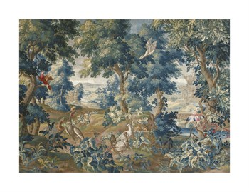 Beauvais Tapestry Fine Art Print by 18th Century French School