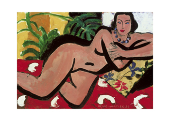 Nude With Palms, 1936 Print by Henri Matisse