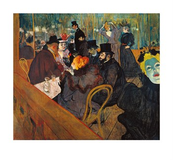 At The Moulin Rouge Fine Art Print by Henri de Toulouse-Lautrec