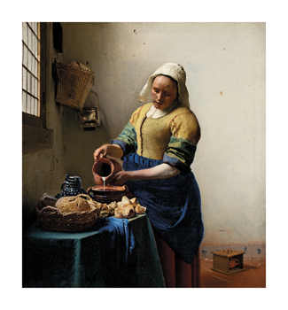 The Milkmaid Fine Art Print by Jan Vermeer