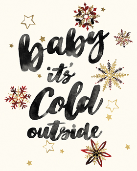 Cold Outside - Luxe Print by Kristine Hegre