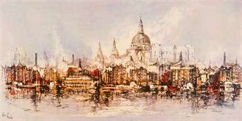 Thameside Canvas Print by Ben Maile