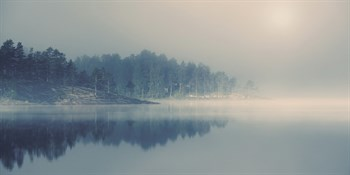 Misty Light Print by Andreas Stridsberg