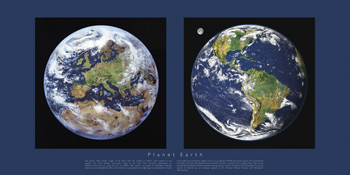 Planet Earth Print by Contemporary Photography