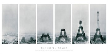 Construction of the Eiffel Tower Print by The Vintage Collection