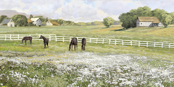 A Day in the Paddock Print by Mark Chandon