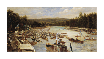 Boating Scene Fine Art Print by Theodore Hines