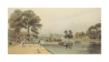 Buckingham Palace from St James's Park Fine Art Print by Thomas Shotter Boys