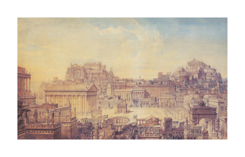 A Tribute To The Architecture Of Rome Fine Art Print by Charles Cockerell
