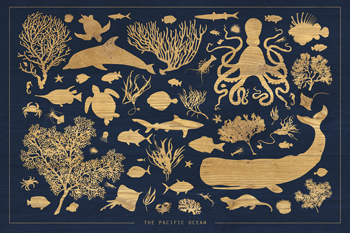 The Pacific Ocean Print by Clara Wells
