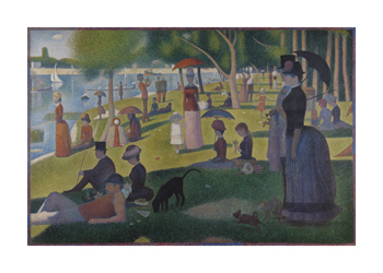 Sunday Afternoon on the Island of La Grande Jatte, 1884-1886 Fine Art Print by Georges Seurat