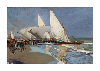 The Beach at Valencia Fine Art Print by Joaquín Sorolla y Bastida