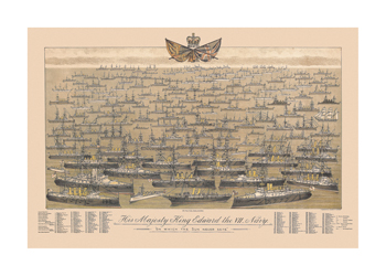 His Majesty King Edward VII's Navy - 'On Which The Sun Never Sets' by R. Abrahams Standard