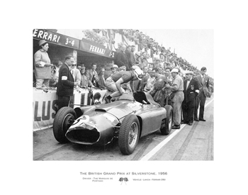 British Grand Prix at Silverstone, 1956 Print by Alan Smith