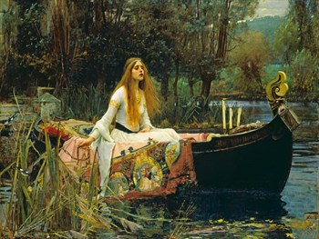 The Lady of Shalott, 1888 Canvas Print by John William Waterhouse