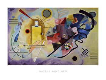 Yellow, Red, and Blue, 1925 Print by Wassily Kandinsky