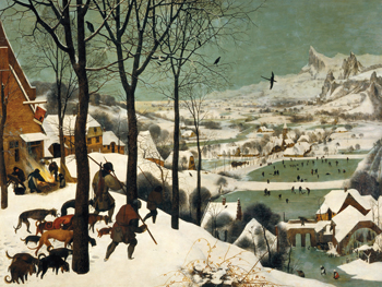 The Hunters in the Snow Canvas Print by Pieter Bruegel the Elder