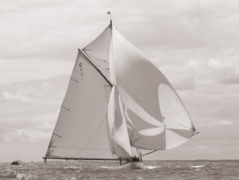 Winged Sail - Vintage Canvas Print by Ben Wood