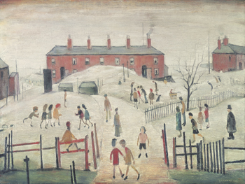 The Schoolyard Print by L.S. Lowry