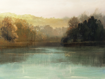 Lakeside Peace Canvas Print by Mark Chandon