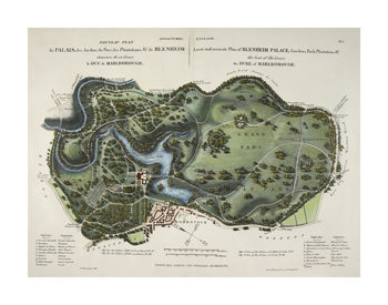 A New and Accurate Plan of Blenheim Palace Fine Art Print by N Vergnaud