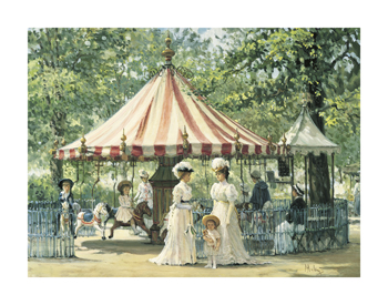 Summer Carousel Print by Alan Maley