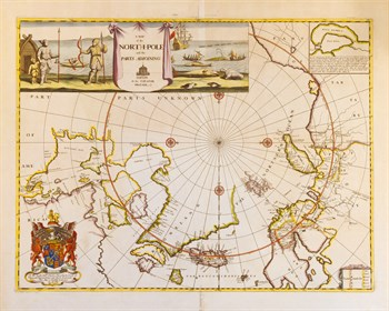 A Map of the North Pole and the Parts Adjoining, 1680 Fine Art Print by Moses Pitt