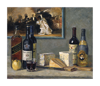 Cheese and Wine Fine Art Print by Valeriy Chuikov