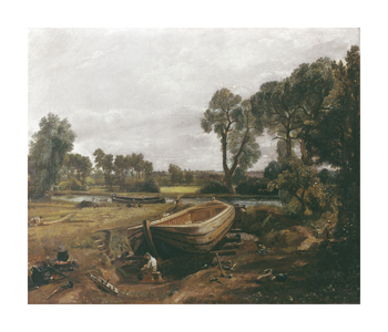 Boat-Building near Flatford Mill Fine Art Print by John Constable