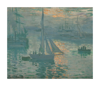 Sunrise (Marine), 1873 Fine Art Print by Claude Monet